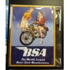 BSA Motorbike Couple Retro Fridge Magnet