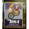 BSA Motorbike Couple Retro Fridge Magnet