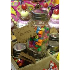 Bottle of Coloured Craft Beads
