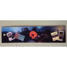 WW1 Poppy Retro 3D-Hologram Bookmark/Ruler