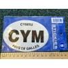 CYM Welsh Oval Car Sticker