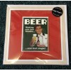 Beer 'See Double Feel Single' Fridge Magnet on Greeting Card