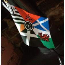 Celtic Nations table/desk top flag