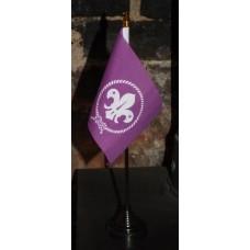 Scouts Purple Desk Top Flag