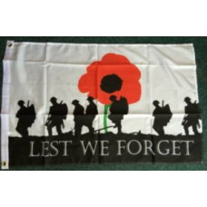 Lest We Forget (Army) 3 x 2 Flag Remembrance Day