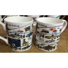 Fishing - Fly Night Sea and Coarse - bone china mug