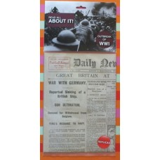 Britain Declares War reproduction 1914 newspaper
