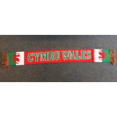 Cymru Wales Red Welsh Supporters Scarf