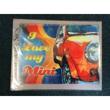 I Love My Mini Hippy Colours A3 Metal Advert Sign