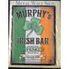 Murphy's Bar Irish Whisky Large Metal Sign