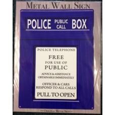Doctor Who Tardis Police Box Large Metal Sign