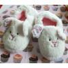 Cream Girls Fluffy Cute Rabbit Slippers