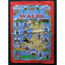 Welsh Counties Tea Towel