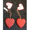 Red Heart Polka Dot Wooden Sign