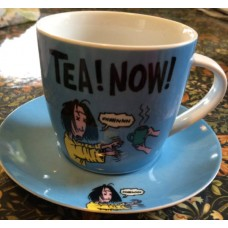 Tea Now Mummy Zombie Cup and Saucer