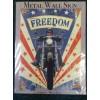 American Freedom Motorbike Large Metal Sign