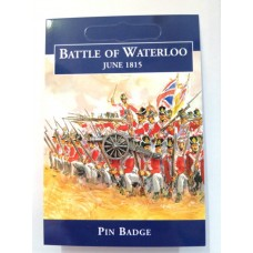 Battle of Waterloo Cannon Pewter Badge