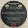 Slate Welsh Coaster - Welsh Ten Commandments