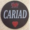 Slate Welsh Coaster - Cariad