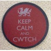 Slate Welsh Coaster - Keep Calm and Cwtch
