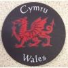 Slate Welsh Coaster - Red Dragon Cymru Wales