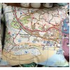 Pembrey and Burry Port Map Cushion with Removable Inner