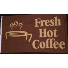 Hot Coffee Shop, Stall or Vendor Flag