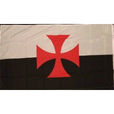 Crusader Cross Knights Templar Flag