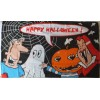 Halloween Ghost Frankenstein Pumpkin Vampire Flag
