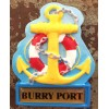 Burry Port Anchor Fridge Magnet