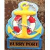 Burry Port Anchor Fridge Magnet