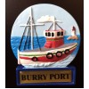 Burry Port Fishing Trawler Fridge Magnet