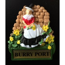 Burry Port Welsh Lady Fridge Magnet
