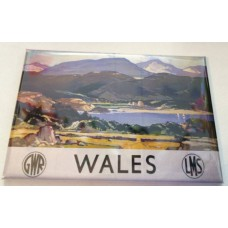 Wales Railway Holiday Advert Fridge Magnet