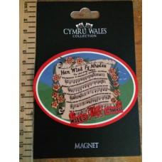 Welsh National Anthem Fridge Magnet