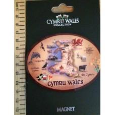Welsh Map Cymru Wales Fridge Magnet