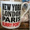 New York London Paris BURRY PORT Coffee Mug