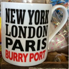 New York London Paris BURRY PORT Coffee Mug