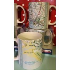 Carmarthenshire Sir Gaerfyrddin Map Coffee Mug