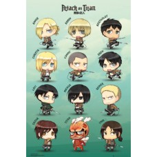Attack on Titan Characters Maxi Poster