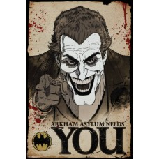 Batman Joker Needs You Arkham Asylum Gaming Maxi Poster