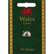 Welsh Pewter Miners Helmet Badge
