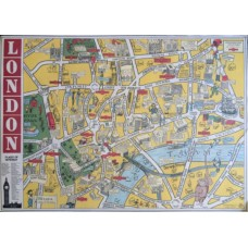 London Map (No 3) Wrapping Paper (and/or Poster)