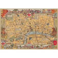 London Old Fashioned Map Wrapping Paper (and/or Poster)